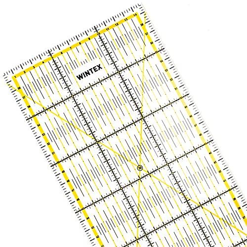 WINTEX righello universale 15 cm x 60 cm, trasparente | regolo per taglierino a rotella, riga per patchwork