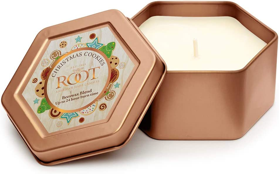 Root Candles Traveler Tin Import Very popular Scented Candle 4-Ounce Beeswax Blend