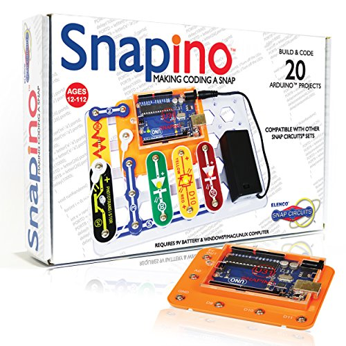 Snap Circuits Snapino  Making Coding A Snap | Snap Circuits amp Arduino Compatible | Perfect Introduction to Coding |  STEM Educational Product for Kids 12