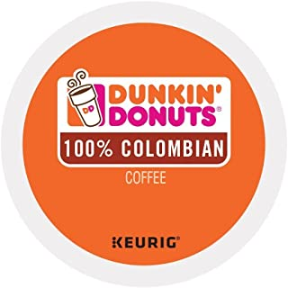 Dunkin Donuts Colombian Coffee K-Cup Pods, For Keurig Brewers, 96 Count