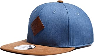 Men's And Women's Cap Sun Shading Flat Cap Solid Color Denim Baseball Cap Accessories (Color : Light blue, Size : Adjustable)