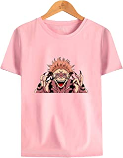 Jụjụtsụ Kȧisėn Short Sleeve Cosplay T-Shirts Summer Youth Casual Tops,Anime Fan 3D Printed Tops Unisex Without Cracking Fa...