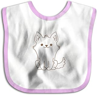UBCATDESA Cute Corgi Dog Baby Bibs, Unisex Baby Soft Cotton Easily Clean Teething Bibs(Blue&Pink)