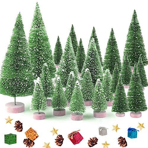 35 Stück Weihnachtsbaum,Mini Weihnachts Baum,Christmasbaum Mini Grün,Weihnachtsbaum Miniatur,Künstlicher Weihnachtsbaum,weihnachts baum klein,Künstlich Klein Weihnachtsdeko,Mini Grün Tannenbaum(Grün)