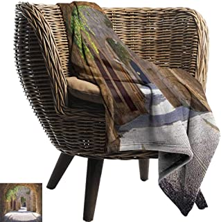 Mannwarehouse Tuscan Super Soft Blankets Ancient Italian Street in a Small Provincial Town of Tuscan Italy European Sofa Chair Brown Green Grey