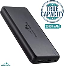 Boulder Pack Co. Compact True-Capacity 20000 mAh Power Bank (with 2 Fast-Charge Smart-Output 3.0A Ports, Pass-Through Charging & TSA Compliant) Compatible with iPhone, iPad, and Android