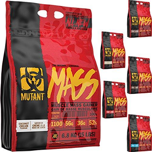 PVL Mutant Mass 6800g / 6.8kg Weight Gain Gainer Shake Powder (Strawberry...
