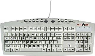 لوحة مفاتيح مطبوعة كبيرة من Ablenet U-See - لوحة مفاتيح كمبيوتر USB عاجية للأفراد ذوي الاحتياجات البصرية - رقم المنتج: 100...