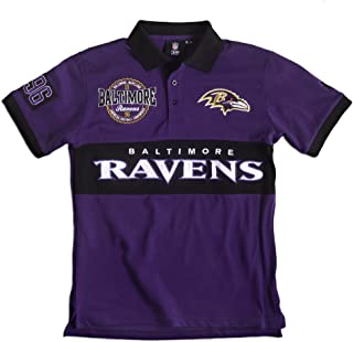 Baltimore Ravens NFL Cotton Wordmark Rugby Short Sleeve Polo Shirt