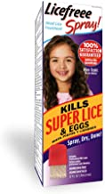 Licefreee Spray Head Lice Spray- Super Lice Treatment for Kids and Adults- Kills lice, Super Lice and Eggs on Contact- Includes Professional Nit Comb - Family Size- 12 oz