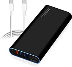 PoderCamino 98Wh PD Portable Charger USB-C Power Bank External Battery for New MacBook Pro 13 15 Surface Book 2 HP Spectre Elite Dell XPS Latitude Razer Lenovo Asus Acer LG USB C Type C laptop tablet