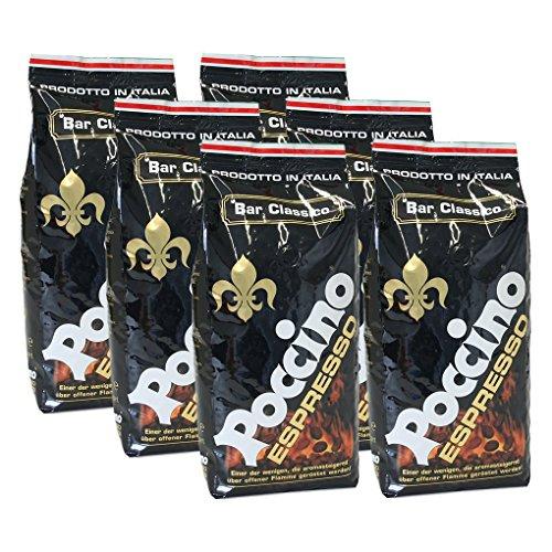 POCCINO Espresso Bar Classico, 1000g ganze Bohne 6er Pack