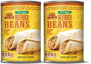 Casa Mamita Fat Free Refried Beans (Gluten Free) - 2 Cans (1 lb.)