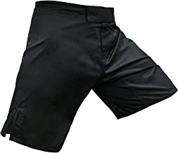 Meister Elite Flex Fighter Board Shorts for MMA Training and Gym Workouts - Blank No Logo