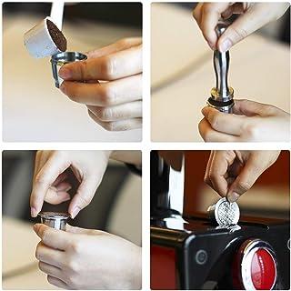 Lorsoul Reemplazo de Acero 4pcs / Set Inoxidable Recargable Reutilizable café cápsula de café de sabotaje café de la Vaina para la máquina de Nespresso