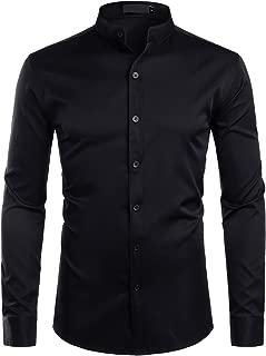 Best black mandarin collar shirt Reviews