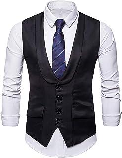 Pingtr Men's Waistcoat Formal Bussiness Tuxedo Suit Waistcoat Vest Jacket Tuxedo Waistcoat