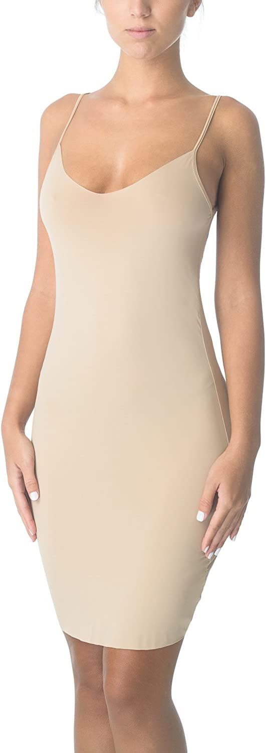 Cover Girl Fitted Stretch Whole Slip 20% Lycra (L, Nude)