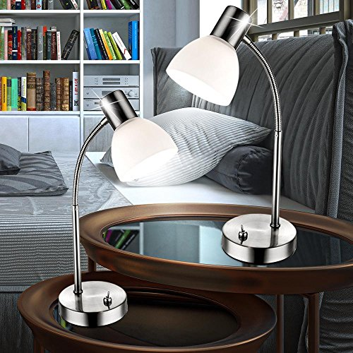 2er Set Tisch Lese Büro Lampe Flexo Arm Spot beweglich Leuchten Beleuchtungen E14