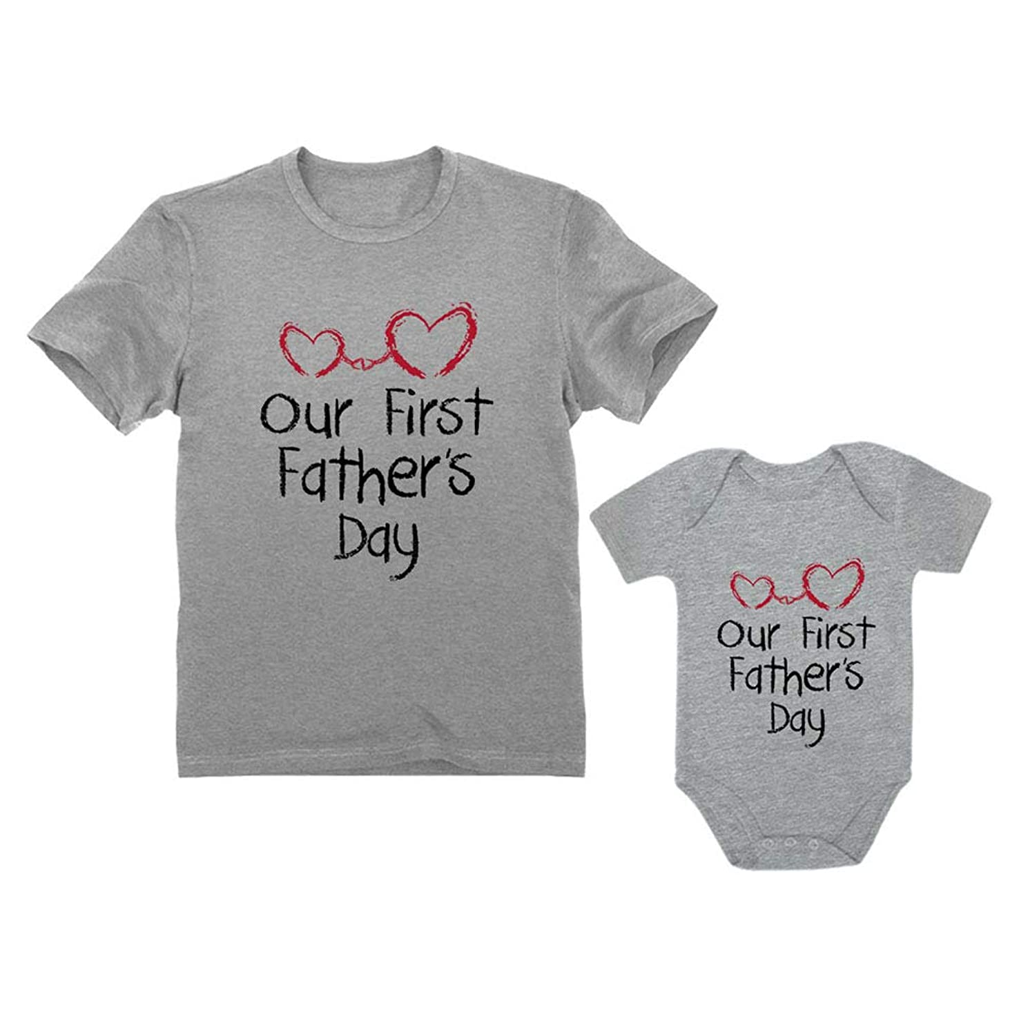 Our First Father's Day Dad & Baby Matching Set Infant Bodysuit & Men's T-Shirt