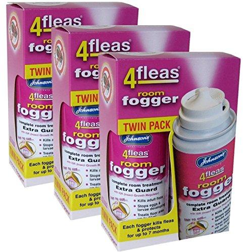 3 X Johnson's Veterinary Flea Killer Bomb Room Fogger Multi pack