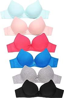 Women's Premium Plain Cotton Bra (6 Pack)
