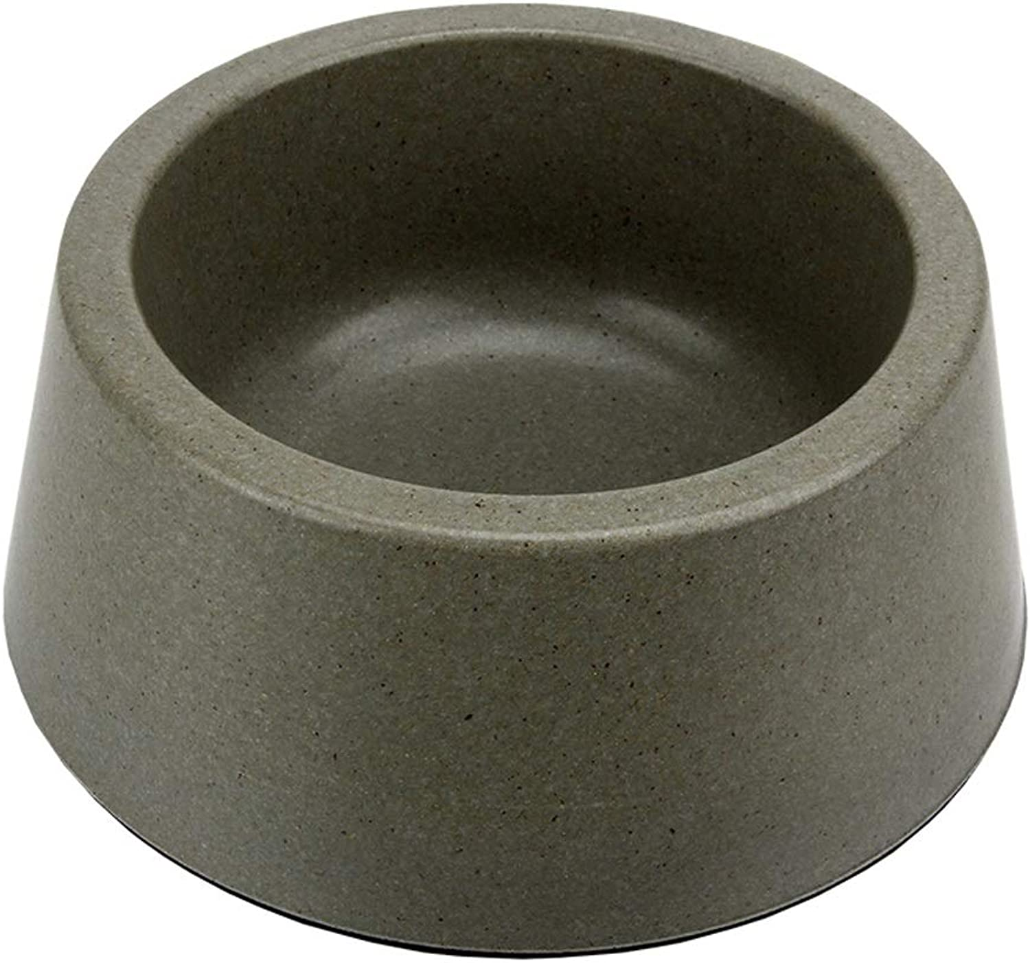 KTYX Puppy Cat Bowl Round NonSlip Pet Bowl (Military Green) Pet Bowl (Size   S)
