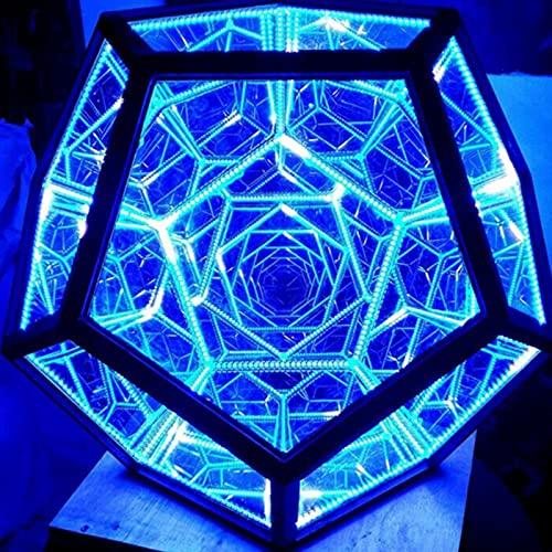 Luz De Noche Led Luz De Color De Dodecaedro Infinito Lámpara De Mesa De Decoración De Arte, Alimentado por USB, Muebles para El Hogar
