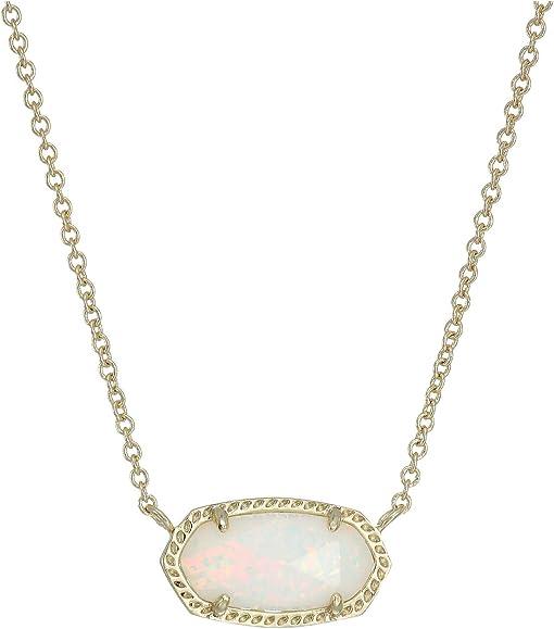 Gold/White Kyocera Opal