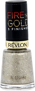 Revlon Womens Fire 'N' Gold 5 Finishes Nail Enamel, Gold Grains, 8 ml