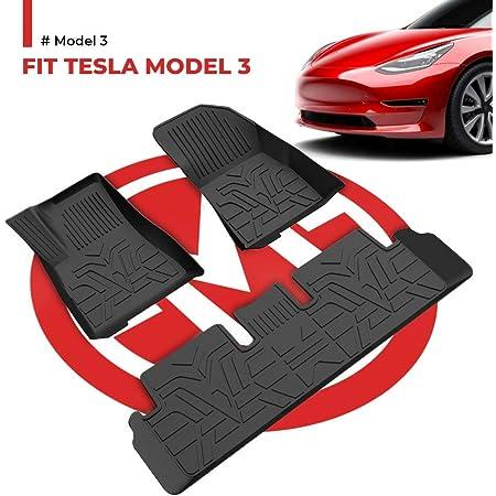Bougerv Für Tesla Model 3 Fussmatten Fußmatten Gummimatte Set Automatten Zubehör Wasserdicht Autoteppich Set Für Model 3 2017 2018 2019 2020 2021 Auto