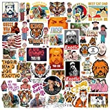 The Tiger King Stickers for American Film Documentary(50pcs) TV Play Tiger King Stickers for Computer Car Skateboard Motorcycle Bicycle Luggage Guitar Bike Decal