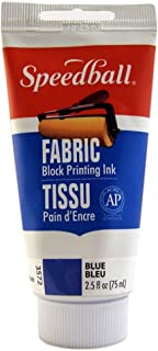 Speedball 003572 Fabric Block Printing Ink – Premium Fabric Block Printing Ink 2.5 FL OZ (75CC), Blue