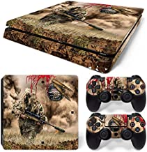 ZoomHit Ps4 Slim Playstation 4 Slim Console Skin Decal Sticker Sniper Camouflage + 2 Controller Skins Set (Slim Only)