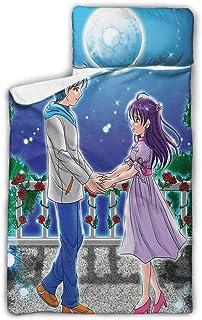 "Ahuimin Anime Kids Nap Mat Set, 50"" x 20"" Portable Sleeping Bag Mats w Blanket + Pillow for Boys or Girls"