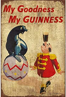 FlowerBeads My Goodness My Guinness Cool Bar Signs Retro Iron Painting, Metal Poster Bar Club Home Bedroom Living Room Decoration 20X30Cm