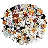 The Promised Neverland Waterproof Laptop Stickers Waterproof Skateboard Snowboard Car Bicycle Luggage Decal 48pcs Pack (Neverland)