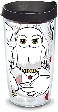 Tervis 1315113 Harry Potter - Hedwig Insulated Tumbler with Wrap and Lid, 16 oz - Tritan, Clear