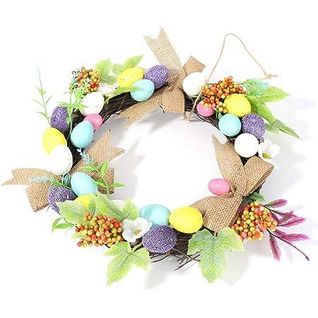 Easter wreath  11/'/' egg wreath Easter egg wreath Easter decoration Spring decor Spring wreath Paper flower wreath Paper flower egg wreath