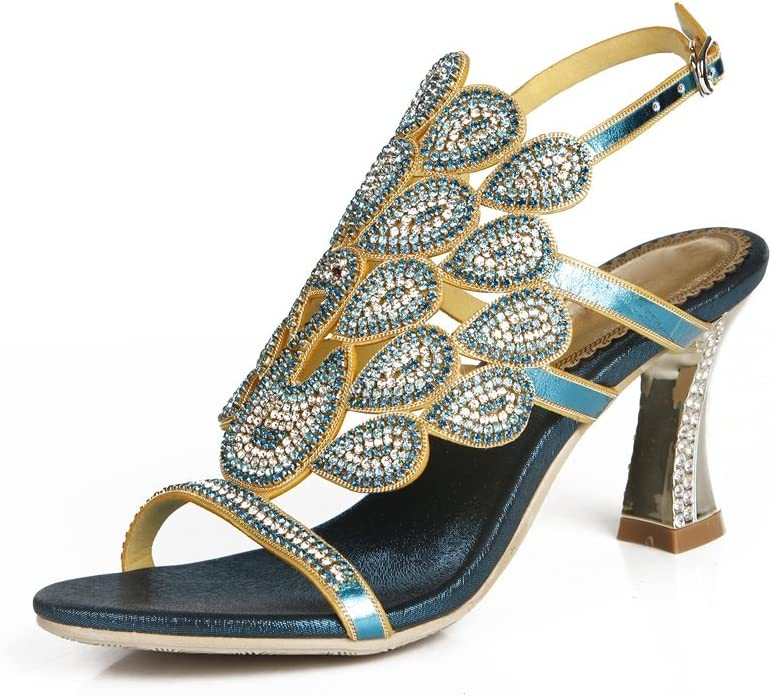 Women's Ranking TOP9 Ladies Rhinestone Peacock Handmade All items in the store Sandals Eve Patterned