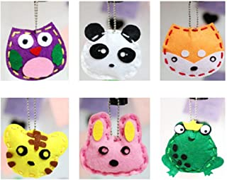 Kids DIY- First Sewing Kit for Kids, Learn to Sew DIY Craft Kits, Lovely Animals Style- Frog, Owl, Fox, Rabbit, Panda and ...