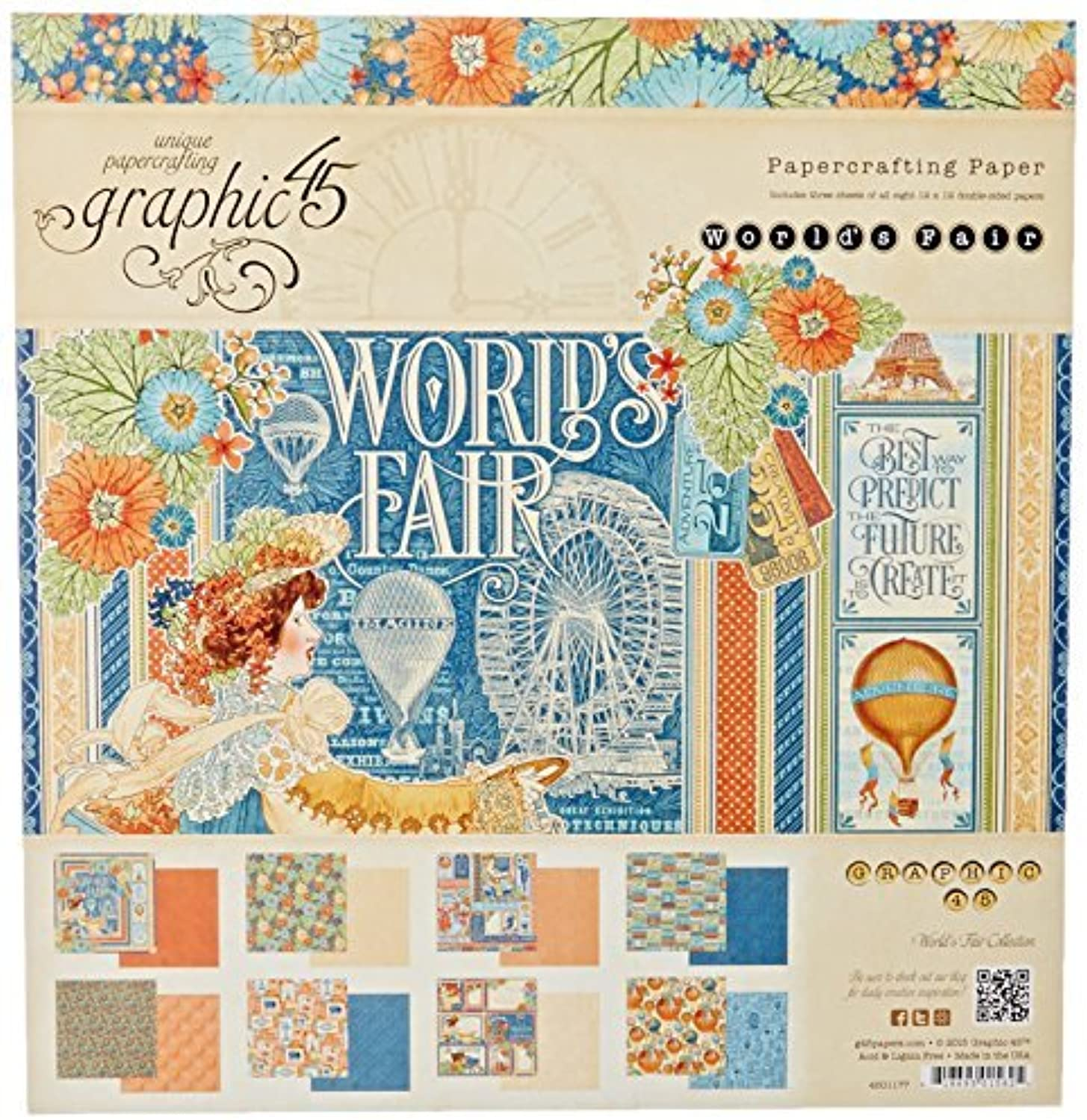 Graphic 45 Graphic 45 Double-Sided Paper Pad 12-inch x 12-inch 12-inch 12-inch 24 Pkg-World's Fair, 3 Each Of 8 Designs, by Graphic 45 B01MZG833V | Reparieren  2bc6d9