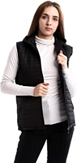 Andora Stitched Squared Zipper Hooded Vest