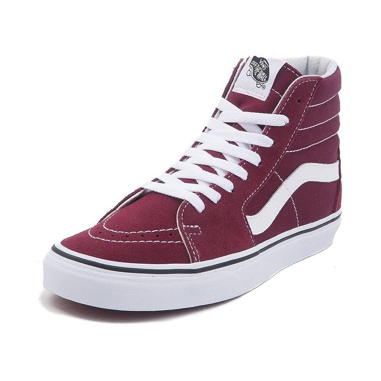 サリー極めて重要なフライト(バンズ) VANS 靴?シューズ スニーカー Vans Sk8 Hi Skate Shoe Burgundy/White バーガンディ/ホワイト US Men's 6, Women's 7.5 (M 24, W 24.5)