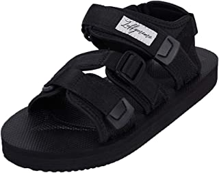 LUFFYMOMO Athletic Sandals for Men Sport Adjustable Strap Summer Sandals