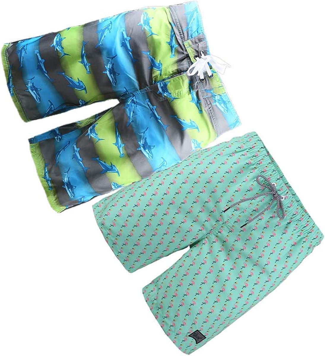 BG 2-Pcs Pack Men's Vintage Rash Guard Bikini Joker Traning Pocket Swimwear