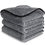mixigoo Car Cleaning Towels Microfiber - Super Absorbent Microfiber Cleaning Cloth Lint Free, Big...