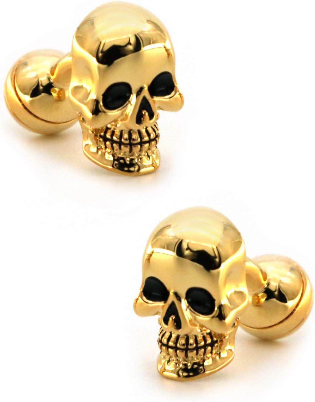 GTHT Men for Cufflinks Men's ufflinks Golden Max 48% OFF Design 25% OFF Skull Color