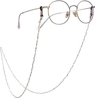 ed29b16dab TEAMER - Correa para Gafas de Lectura con Cadena de eslabones y Cordones  para Mujer (