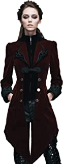 Devil Fashion Steampunk Swallow Tail Coat Gothic Women's Long Winter Jacket